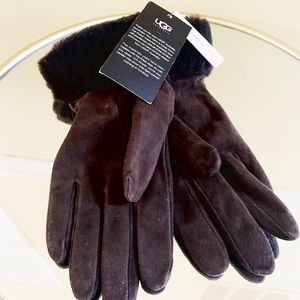 🆕 NWT UGG Brown Leather Cashmere Lined Gloves